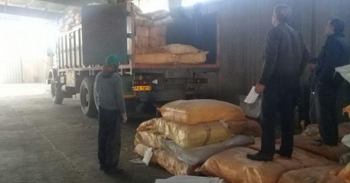 ارسال کیسه خالی دو لایه کودی به استان خوزستان