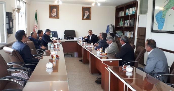 جلسه مشترک مدیراستان اردبیل با مدیرجهادکشاورزی پارس آباد