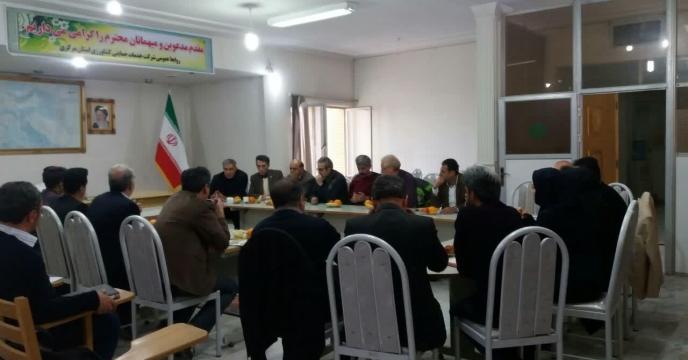 نشست صمیمی مدیر محترم تولیدات جهاد کشاورزی استان مرکزی و مدیر شرکت خدمات حمایتی