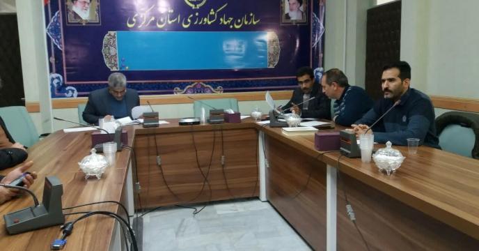 جلسه کمیته فنی بذر  در سالن جلسات امام حسین (ع ) استان مرکزی