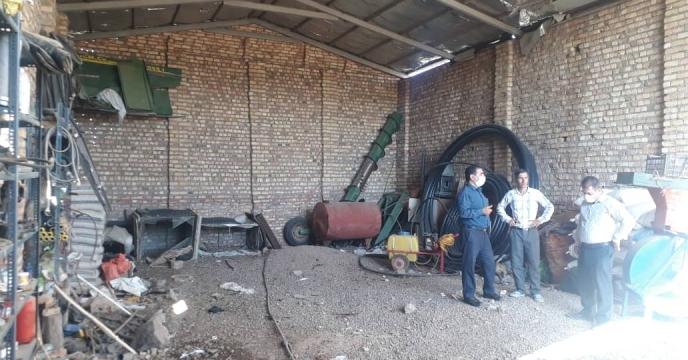 بازدید از شرایط انبار درخواست عاملیت جدید کارگزاری در  بخش کاغذکنان شهرستان میانه