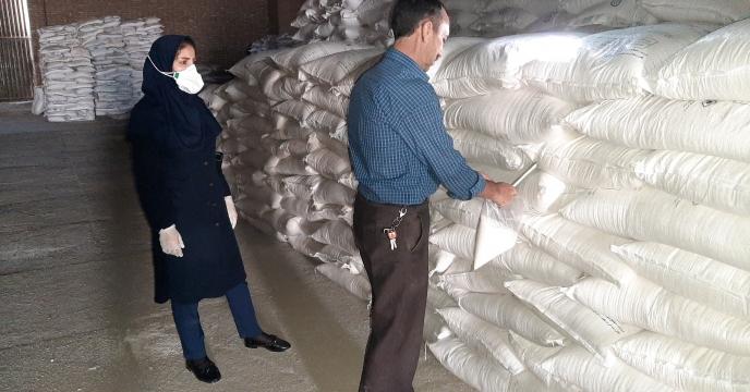 نمونه برداری از پارت 52 کود نیترات آمونیوم سولفات ارسالی به استان قزوین