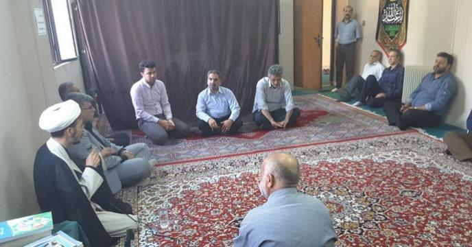 برگزاری مراسم زیارت عاشورا در شرکت خدمات حمایتی کشاورزی استان خراسان رضوی
