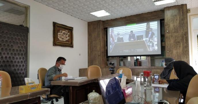 حضور همکاران در جلسه آموزش سامانه پایش کودی از طریق ویدئو کنفرانس