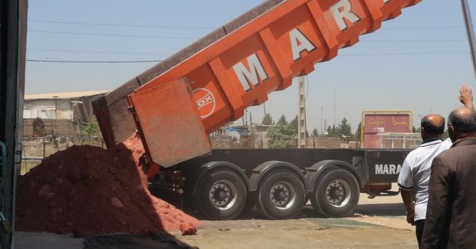 حمل کودهای فله به انبار های استان تهران