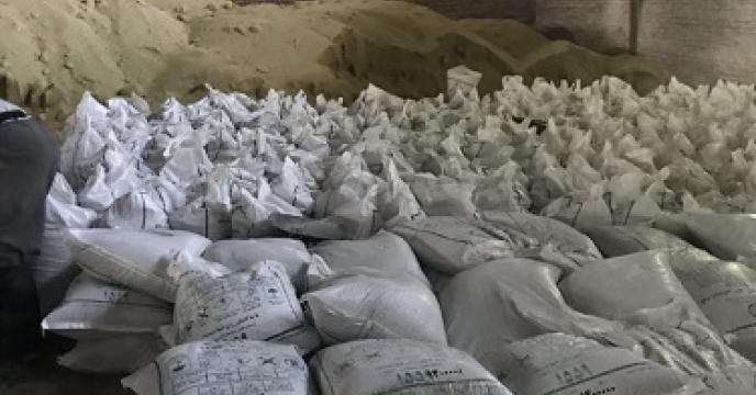 تامین و توزیع 106 تن کود فسفات آمونیوم در فریدونکنار  استان مازندران