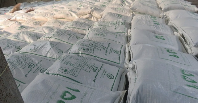 تامین و توزیع 65 تن کود سوپرفسفات تریپل در محمودآباد استان  مازندران