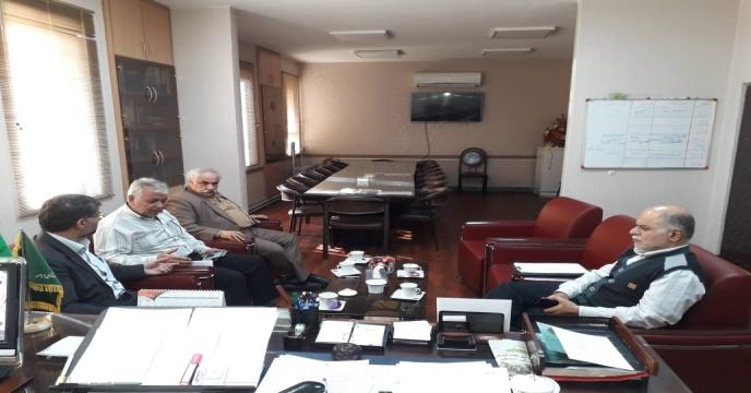 جلسه آقای مهندس افضلی با مدیر سازمان تعاونی روستایی