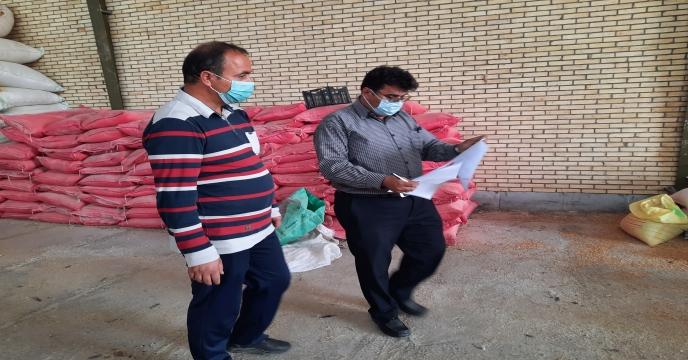 بازدید معاونت شرکت خدمات حمایتی کشاورزی استان یزد از انبار کود کارگزاری غدیر بهادران
