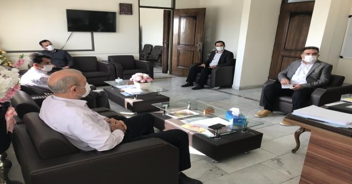 جلسه  مدیر با معاونین و مسئول امور مالی استان آذربایجان غربی