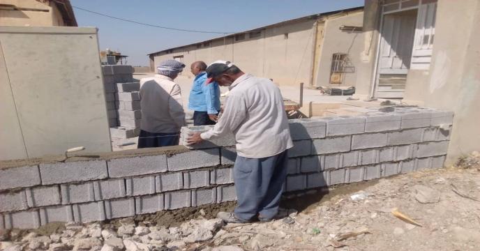 ترمیم و بهسازی دیوار انبار کمربندی برازجان