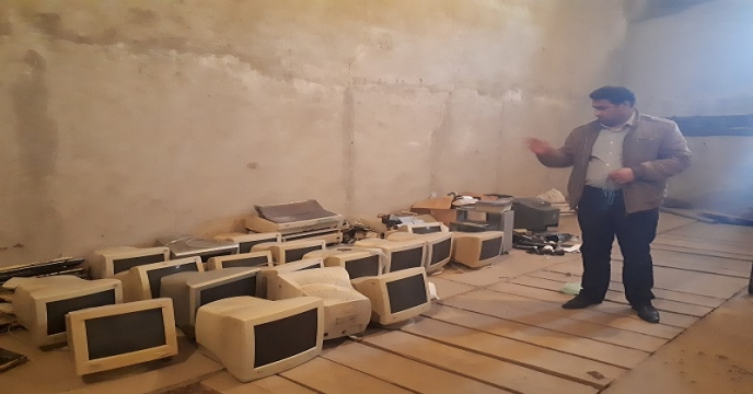 بازدید از اثاثیه اسقاطی شرکت خدمات حمایتی  آذربایجان غربی