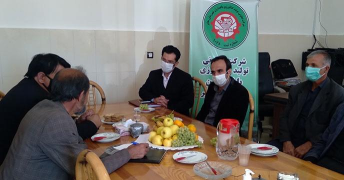 بازدید مدیر شرکت خدمات حمایتی کشاورزی استان همدان از کارگزاری باغداران ملایر