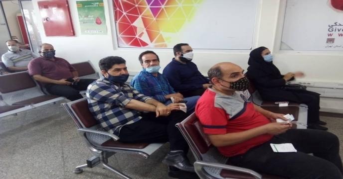 اهدای خون توسط کارکنان شرکت خدمات حمایتی کشاورزی استان تهران