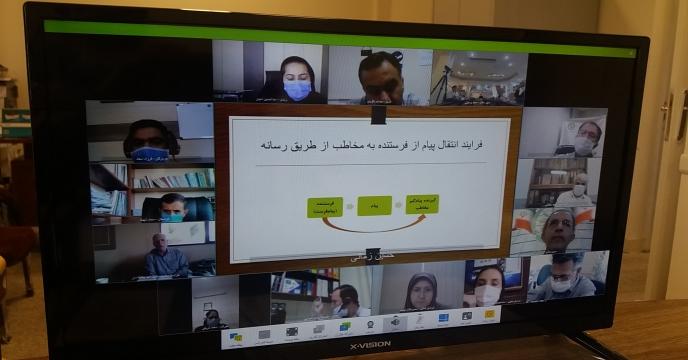 """گزاری دوره آموزشی"""" خبر نویسی و گزارش رسانه ای"""" به صورت ویدئو کنفرانس – شهریور ماه 1399"""