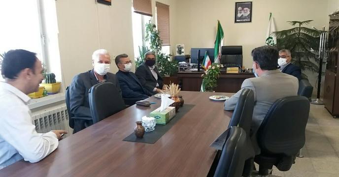 جلسه مدیران سازمان جهاد کشاورزی با مدیر شرکت خدمات حمایتی کشاورزی استان مرکزی