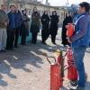کارگاه  آموزشی آمادگی کارکنان برای مقابله با آتش سوزی و زلزله، استان همدان